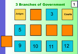 3 Branches of Government MATCH GAME Promethean Board Game