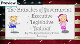 3 Branches of Government - No Prep Google Classroom Online