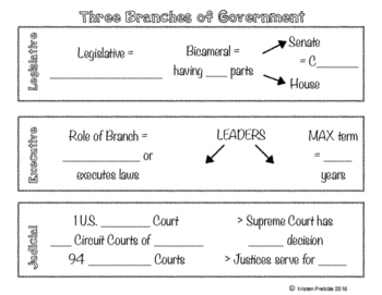 3 Branches of Government Overview - Notes