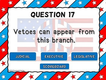 3 Branches of Government Powerpoint Review Game