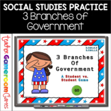 3 Branches of Government Powerpoint Review Game Distance Learning