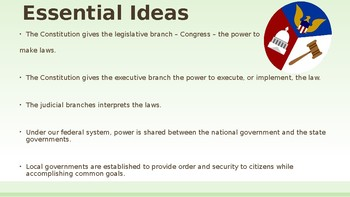 3 Branches of Government PowerPoint