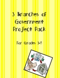 3 Branches of Government Project Pack