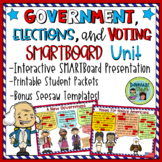 3 Branches of Government SMARTBoard File with Printable Activities