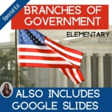Branches of Government Special Education Unit with Lesson Plans