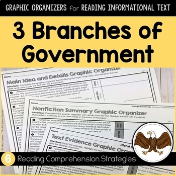 3 Branches of Government | Graphic Organizers for Reading Informational Text