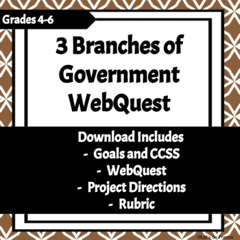 3 Branches of Government Webquest Project