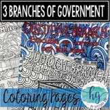 3 Branches of Government Zen Coloring Pages