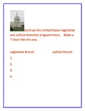 3 Branches of United States Government using the Smart Board