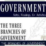 3 Branches of the US Government Readings, Notes and Activi