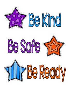 3 B's Behavior Poster - Star Theme