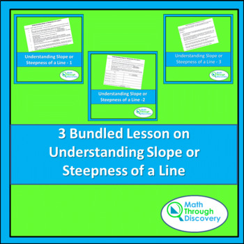 Middle School:  3 Bundled Lesson on Understanding Slope or Steepness of a Line