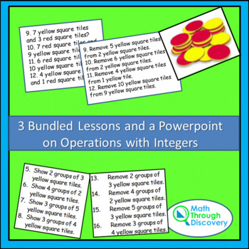 3 Bundles Lessons and a Powerpoint on Operations with Integers