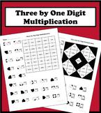 3 By 1 Digit Multiplication Color Worksheet