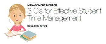 3 C's for Effective Student Time Management