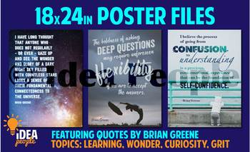 3 WALL POSTERS: Learning! Curiosity! Deep Questions! Critical Thinking! 18x24in