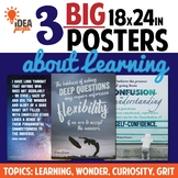 3 WALL POSTERS: Learning! Curiosity! Deep Questions! Criti