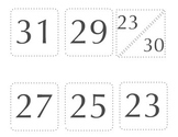 "3"" Calendar Numbers"