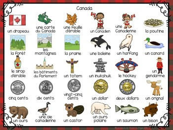 3 Canada Themed Vocabulary Games in French