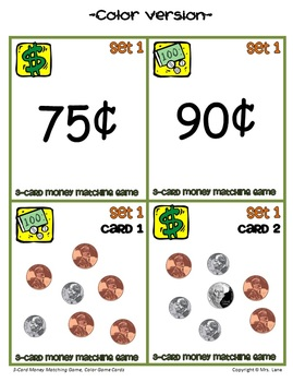 3-Card Money Matching Game