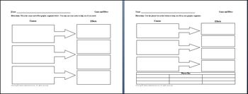 3 Causes 4 Effects Graphic Organizer