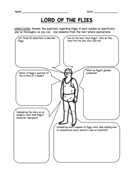 Lord of the Flies Activity - 5 Worksheets, Bell Ringers, Exit Tickets & More!