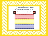 3 Chevron Bulletin Board Boarders- Primary Colors Pack