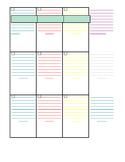 3 Child lesson planner Segoe Print