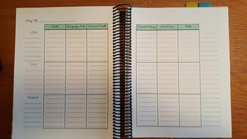 3 Child lesson planner using Wendy font