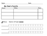 3 Choices Tally Grid and Bar Graph
