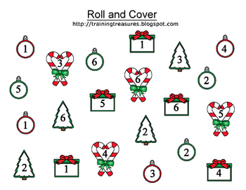 3 Christmas Roll and Cover Games