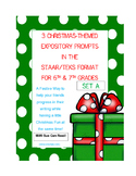 3 Christmas-Themed Expository Writing Prompts (STAAR/TEKS)