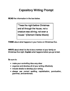 3 Christmas-Themed Expository Writing Prompts (STAAR/TEKS) Set B  6th & 7th