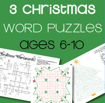 3 Christmas Word Puzzle Pack