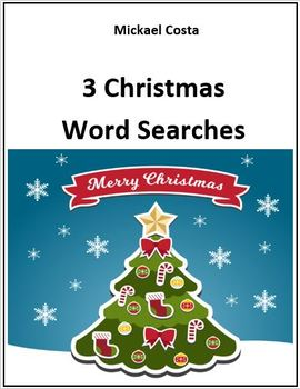 3 Christmas Word Searches