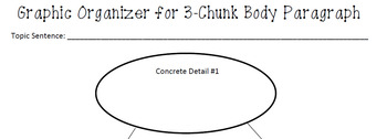 3 Chunk Paragraph Graphic Organizer