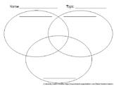 3 Circle Venn Diagram - Compare and Contrast