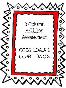 3-Column Addition Assessment
