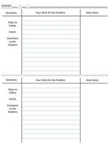 3 Column Notes Math Graphic Organizer