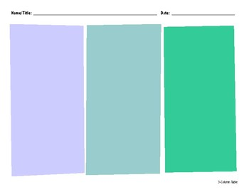3-Column Organizer Color
