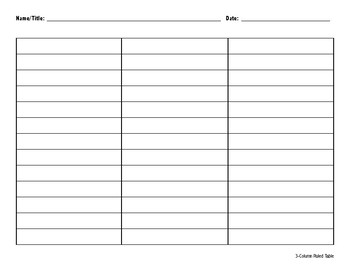 3-Column Ruled Organizer