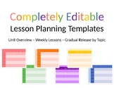3 Completely Editable Lesson Planning Templates