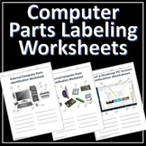 Computer Parts Labeling Activity - 6 Worksheets