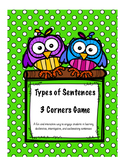 3 Corners Types of Sentences Game