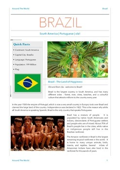 Geography Bundle - Brazil + Israel + Japan - 3 in 1