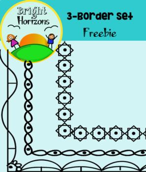 3 Creative-Border Set - Freebie