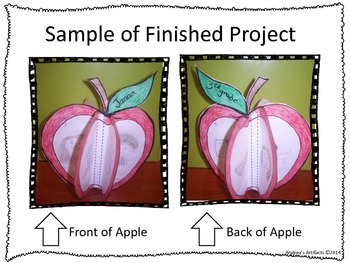 3-D Back to School Apple