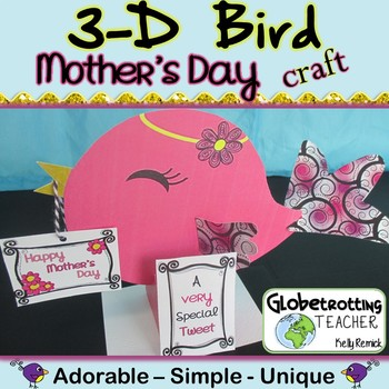 Mother's Day Craft 3-D Bird Activity
