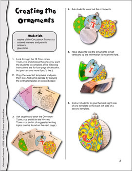 CHRISTMAS Crafts & Activities: 19 Ornament Templates for Creative Writing & Art