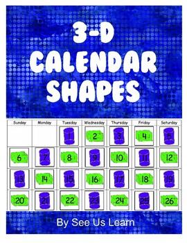 3-D Calendar Shapes